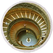 The Spiral Staircase Round Beach Towel