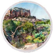 The Spirit Of Ghost Ranch Round Beach Towel