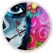 The Spirit Of Jezebel Round Beach Towel