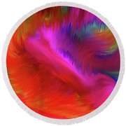 Round Beach Towel featuring the digital art The Spirit Of Life by Sherri Of Palm Springs
