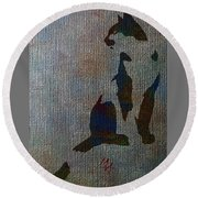 The Spotted Cat Round Beach Towel