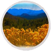 The Spring Mountains Round Beach Towel