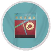 The Square Wheels Of Progress Round Beach Towel