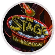 The Stage On Broadway Round Beach Towel by Stephen Stookey