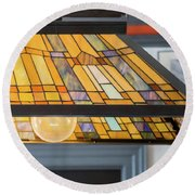 The Stained Glass Round Beach Towel