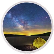 Stellar Camp Round Beach Towel