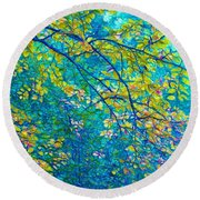 The Star Of The Forest - 773 Round Beach Towel by Variance Collections