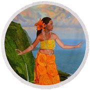 The Star Of The Sea Round Beach Towel