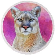 The Stare Round Beach Towel by Suzanne Handel