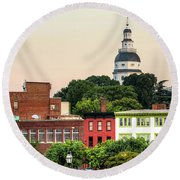 The State Capitol Round Beach Towel