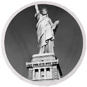 The Statue Of Liberty  Photo Round Beach Towel