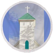 The Steeple Round Beach Towel