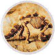 The Stegosaurus Art In Form Round Beach Towel
