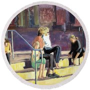 The Steppes Round Beach Towel