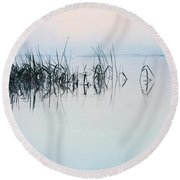 The Stillness Of Life Round Beach Towel by Shelby  Young