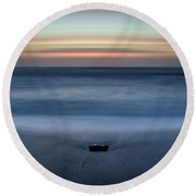 The Stone And The Sea Round Beach Towel