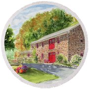The Stone House Round Beach Towel