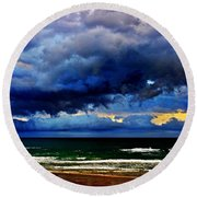 The Storm Roles In Round Beach Towel