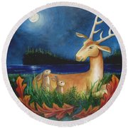 The Story Keeper Round Beach Towel