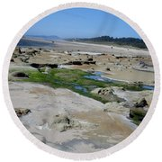 The Strange And The Beautiful Round Beach Towel