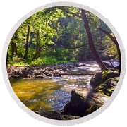 The Stream Round Beach Towel