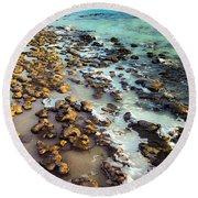 The Stromatolite Family Enjoying Its 1277500000000th Sunset Round Beach Towel