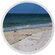Round Beach Towel featuring the photograph The Stuff That Never Happened by Michiale Schneider