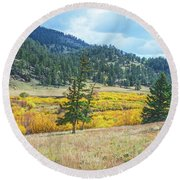 The Sublime Beauty That Ensorcells The Soul.  Round Beach Towel