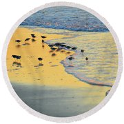 The Sun Is Shining And So Are You Round Beach Towel