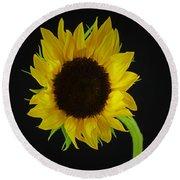 The Sunflower Round Beach Towel