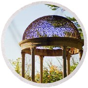 The Sunny Dome  Round Beach Towel