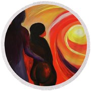 The Sunset Of Our Dreams Round Beach Towel