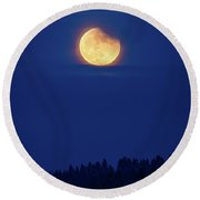 The Super Blood Moon January 2018 Round Beach Towel