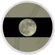 Round Beach Towel featuring the photograph The Super Moon 3 by Robert Knight