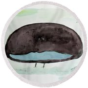 The Superb Bird Round Beach Towel by Keshava Shukla