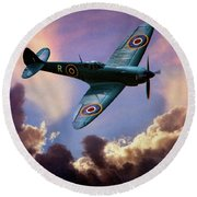 The Supermarine Spitfire Round Beach Towel by Chris Lord