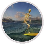 The Surf Roles Round Beach Towel
