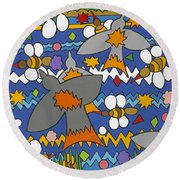 The Swallows Round Beach Towel