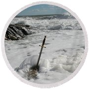 The Sword 2 Round Beach Towel