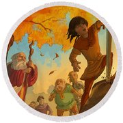 The Sword In The Stone Round Beach Towel