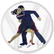 The Tango Round Beach Towel