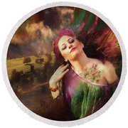 The Tattoo Girl Round Beach Towel