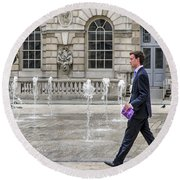 Round Beach Towel featuring the photograph The Tax Man by Keith Armstrong