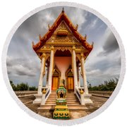 The Temple Round Beach Towel