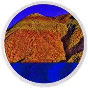 The Tepees Up Close Round Beach Towel