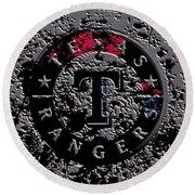 The Texas Rangers 1b Round Beach Towel