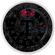 The Texas Rangers 1c Round Beach Towel