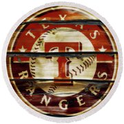 The Texas Rangers 1w Round Beach Towel