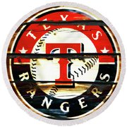 The Texas Rangers 3w Round Beach Towel