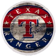 The Texas Rangers 4a Round Beach Towel